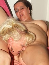 Juliana and Elizabeth are experience and plump grandmas having a nice threesome on webcam